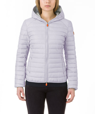Women Hooded Jacket in Lavanda