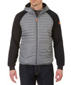 Men's Hooded Jacket in Dark Grey Melange