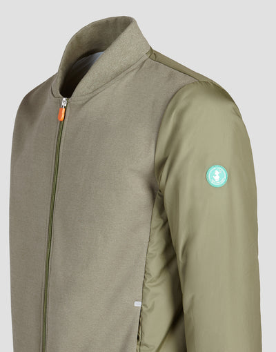 Men's FEEL Activewear Jacket in Mud Green