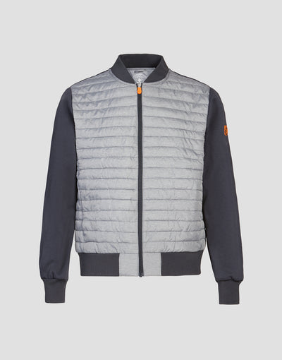 Men's MELA Activewear Jacket in Dark Grey Melange
