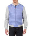 Men's Jacket in Light Blue Melange