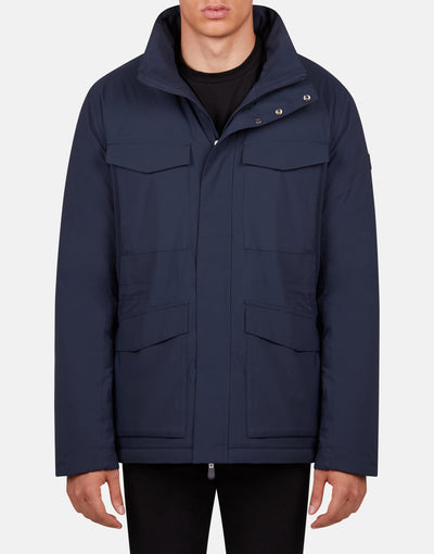 Save The Duck Men's MATT Hooded Rain Jacket with Removable Padding