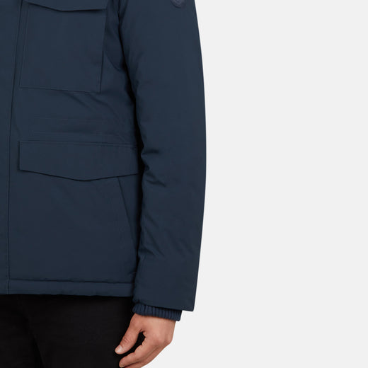 Men's MATT Hooded Rain Jacket with Detachable Collar