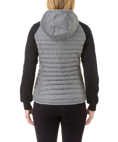 Women's Hooded Jacket in Dark Grey Melange