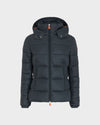 Women's GIGA Quilted Jacket in Green Black