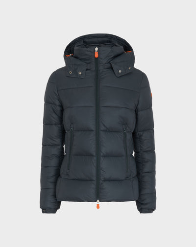 Womens GIGA Quilted Jacket in Green Black