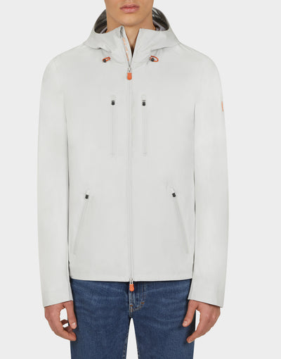 Mens BARK Jacket in Coconut White