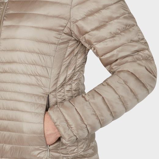Womens IRIS Puffer Jacket in Pearl Grey