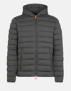 Men's Stretch Hooded Puffer Jacket in ANGY