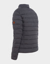 Mens ANGY Quilted Jacket in Charcoal Grey Melange