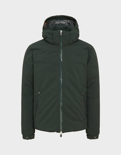 MENS SMEG WINTER HOODED JACKET IN Green Black