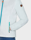 Womens MATY Hooded Jacket in Coconut White