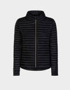 Womens IRIS Sporty Puffer Jacket in Black