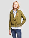 Womens Jacket in Mud Green