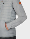 Mens GIFE Hooded Jacket in Opal Grey Light Grey
