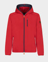 Mens MATY Hooded Jacket in Tomato Red