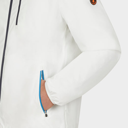 Mens MATY Hooded Jacket in Coconut White