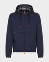 Mens FEBA Hooded Jacket in Navy Blue