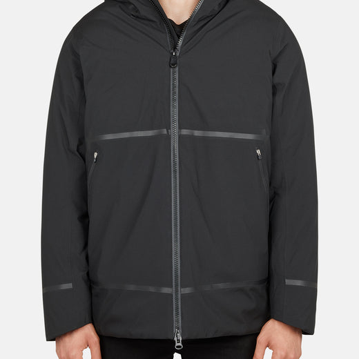 Mens Hooded Rain Jacket in GRIN from Recycled Bottles