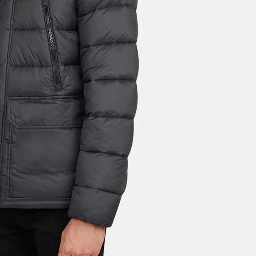 Mens Hooded Jacket in GIGA with Faux Sherpa Lining
