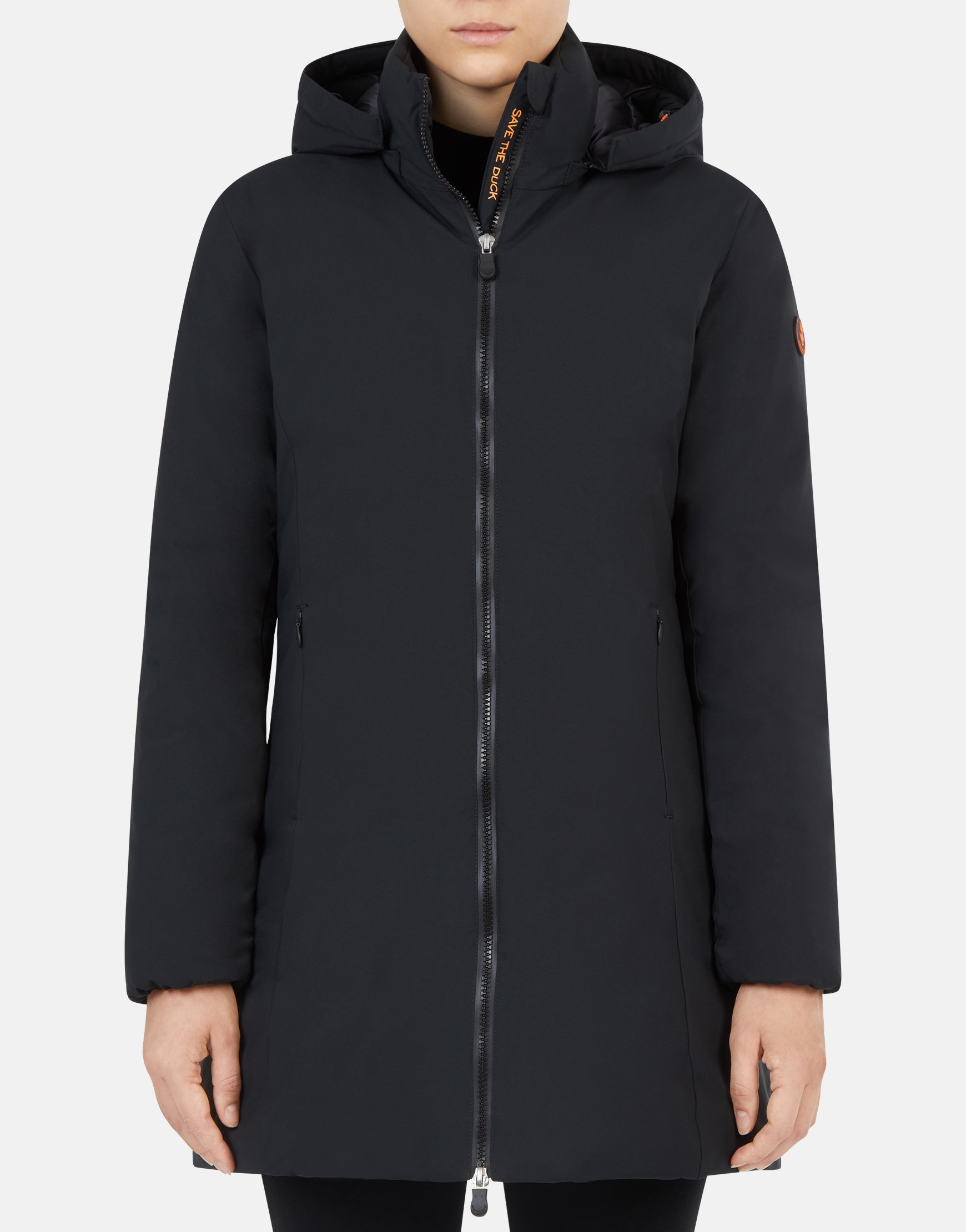 Save The Duck Women's MATT Classic Coat with Detachable Hood