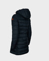Womens GIGA Hooded Coat in Black