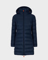 Womens GIGA Hooded Coat in Navy Blue