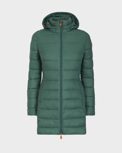 Women's GIGA Hooded Coat in Moss Green