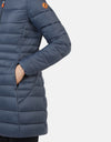 Save The Duck Women's GIGA Stand-up Collar Coat with Detachable Hood