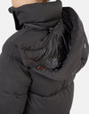 Save The Duck Women's BARK Winter Extra-Long Coat with Detachable Hood