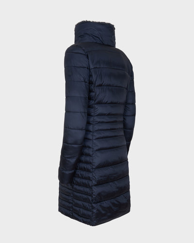 Women's IRIS Winter Coat in Blue Black