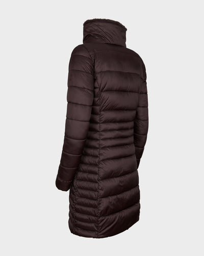 Women's IRIS Winter Coat in Burgundy Black
