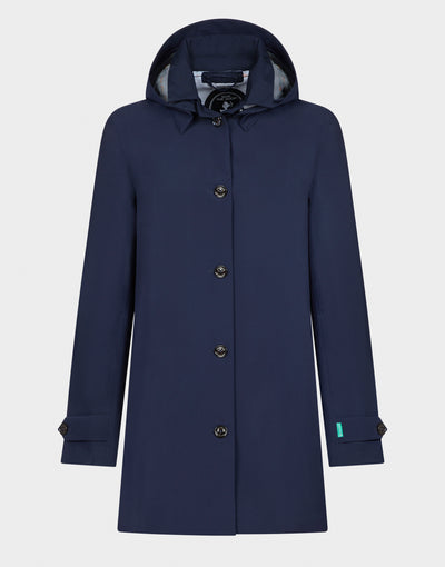 Womens GRIN Coat in Navy Blue