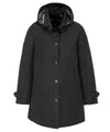 The TECH Hooded Raincoat in Black