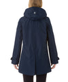 The TECH Hooded Raincoat in Navy Blue
