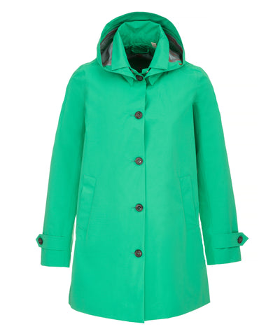 The TECH Hooded Raincoat in Bright Green