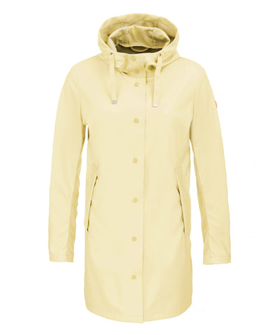 The RAIN Hooded Raincoat in Vanilla Yellow