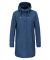 The RAIN Hooded Raincoat in Midnight Blue