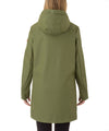 The RAIN Hooded Raincoat in Leaf Green