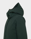 Womens SMEG Winter Detachable Hoodie Coat in Green Black