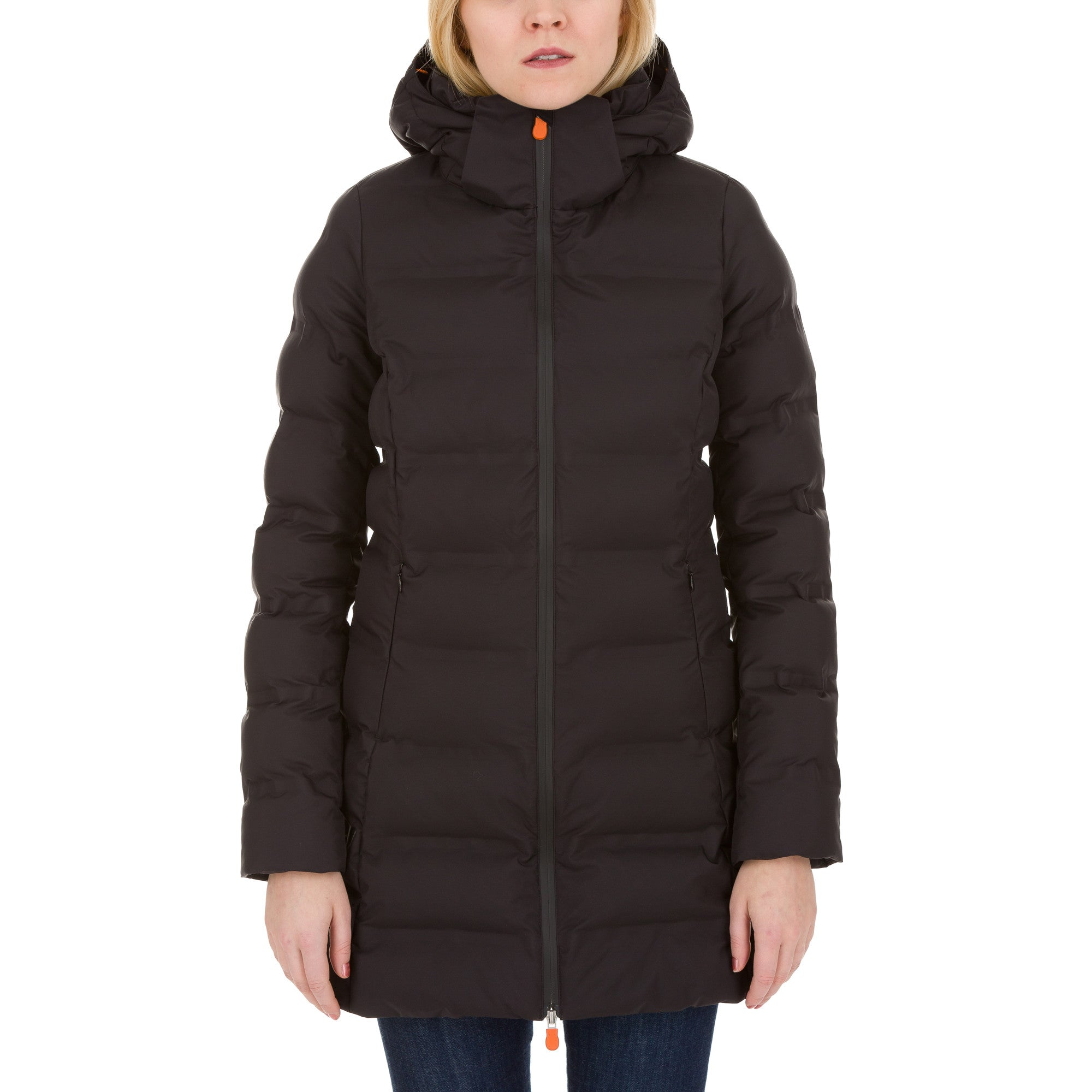 9d1eae14ba Save The Duck Women's Long Puffer Winter Coat In Black - Save the Duck