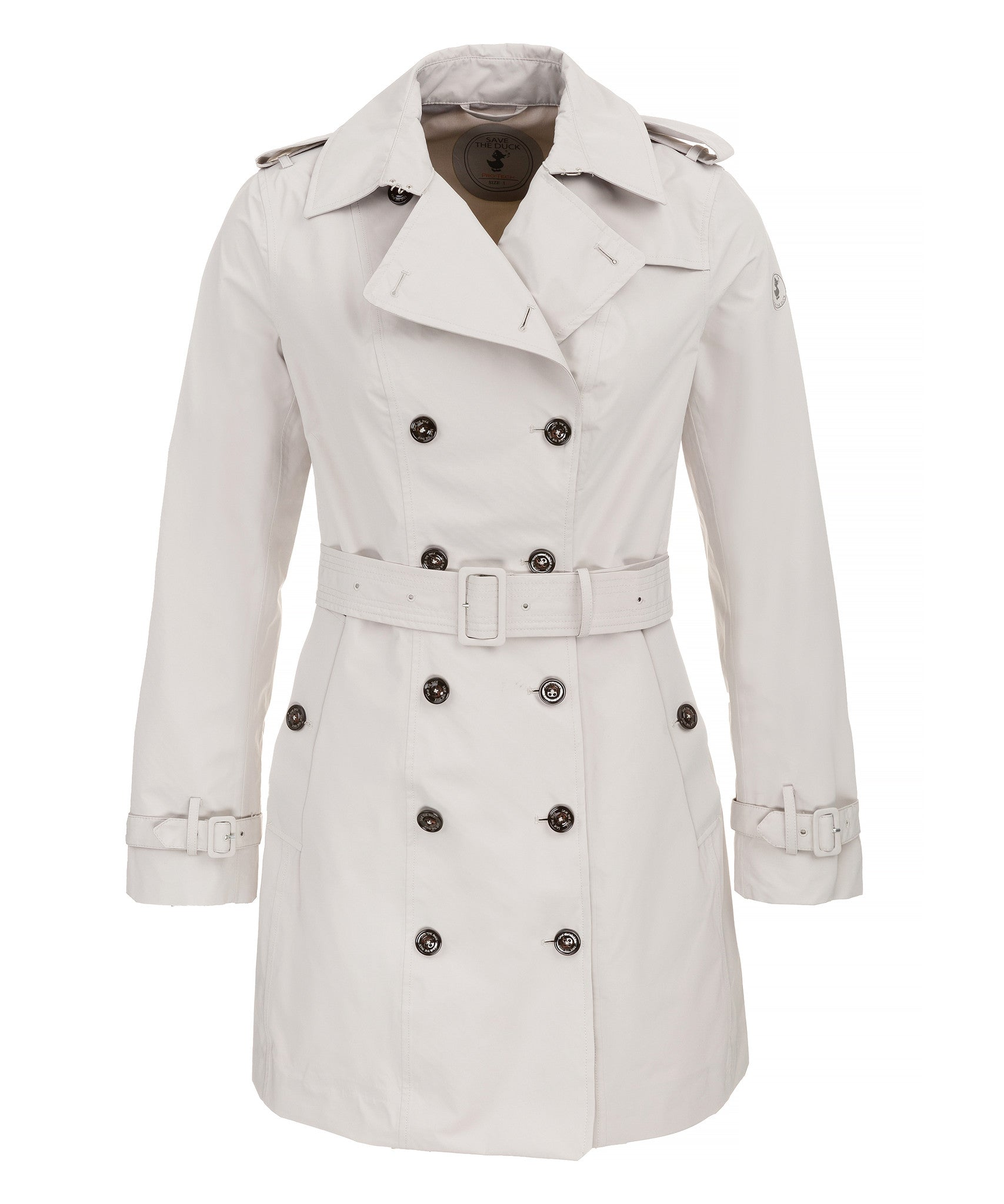 070f664c73f63 Save The Duck Women's Coat in Ice Grey - Save the Duck