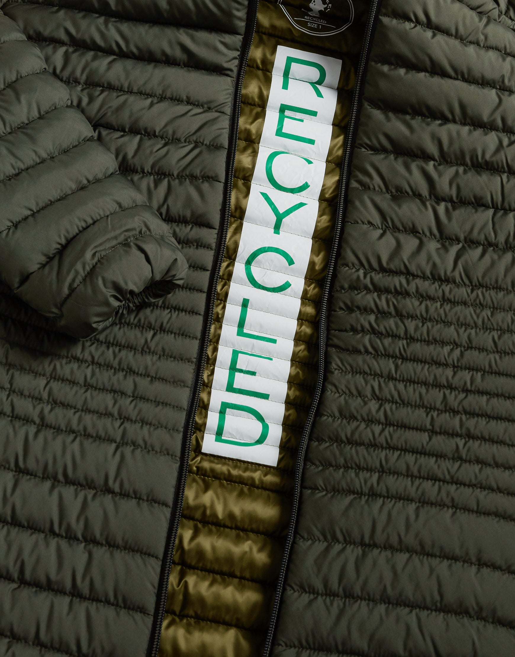 Save The Duck Womens Coat-S4342W-RECY6-01065 Cactus Green