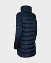 Women's IRIS Quilted Coat in Blue Black