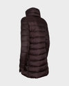 Women's IRIS Quilted Coat in Burgundy Black