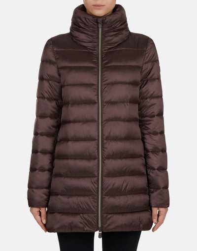 Save The Duck Women's IRIS Quilted Stand Collar Coat