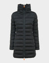 Womens SOLD Stand Up Collar Coat in Black