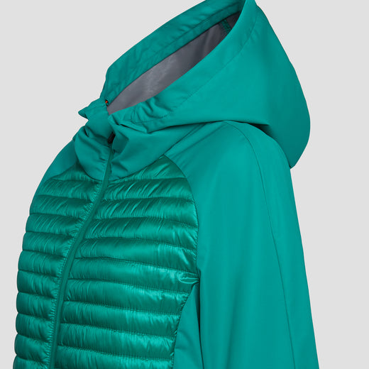 Womens BARK Hooded Coat in Tropical Green
