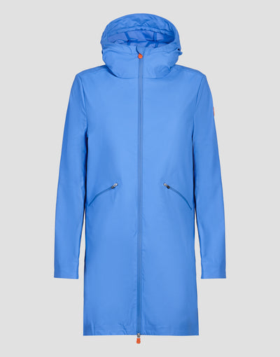 Save The Duck Womens Hooded Coat-S4428W-RAIN6-09 Navy Blue