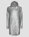 Save The Duck Womens Hooded Coat-S4428W-RAIN6-01062 Silver